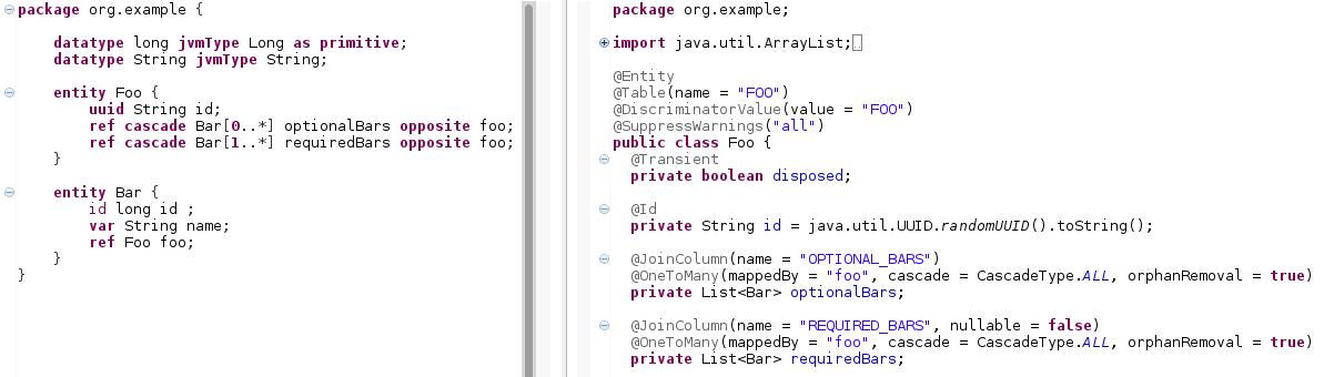 Entity DSL - OS bee documentation