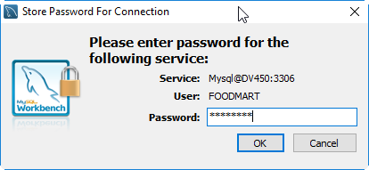 Osb MySQL Workbench connection foodmart password.png